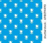 bread pattern repeat seamless... | Shutterstock .eps vector #698094490