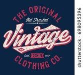 the original vintage clothing... | Shutterstock .eps vector #698095396