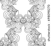 ethnic seamless pattern  black... | Shutterstock .eps vector #698098270