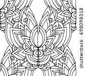 ethnic seamless pattern  black... | Shutterstock .eps vector #698098318