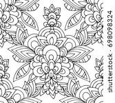 ethnic seamless pattern  black... | Shutterstock .eps vector #698098324
