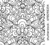 ethnic seamless pattern  black... | Shutterstock .eps vector #698098354