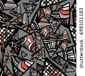 retro geometric  shapes...   Shutterstock .eps vector #698101183