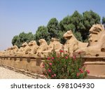 luxor. egypt. alley of sphinxes....