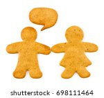 gingerbread man and woman  ... | Shutterstock . vector #698111464