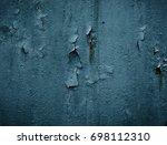 Iron Background With Cracked...