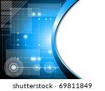 futuristic fantasy background | Shutterstock . vector #69811849