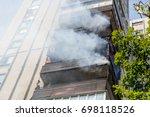 high rise condominium or...   Shutterstock . vector #698118526
