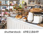 small sandwich shop in brighton ... | Shutterstock . vector #698118649