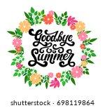 vector hand written lettering... | Shutterstock .eps vector #698119864