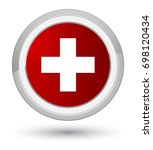 plus icon isolated on prime red ... | Shutterstock . vector #698120434