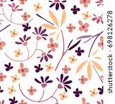 cute seamless floral pattern. ...   Shutterstock .eps vector #698126278