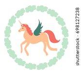 unicorn vector icon isolated on ...   Shutterstock .eps vector #698127238