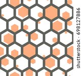 seamless geometric pattern. | Shutterstock .eps vector #698127886