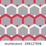 seamless geometric pattern. | Shutterstock .eps vector #698127898