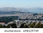 twin peaks  san francisco ... | Shutterstock . vector #698129749