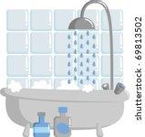 bathroom   Shutterstock .eps vector #69813502