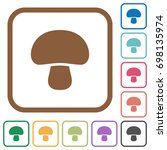 mushroom simple icons in color... | Shutterstock .eps vector #698135974