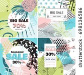 fashion sale and special offer... | Shutterstock .eps vector #698136586
