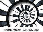 piano keyboard printed music... | Shutterstock . vector #698137600