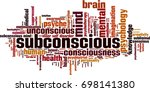 subconscious word cloud concept.... | Shutterstock .eps vector #698141380