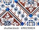 closeup detail of old... | Shutterstock . vector #698150824