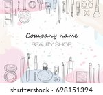 beauty shop | Shutterstock .eps vector #698151394