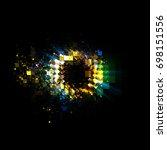 abstract background. luminous...   Shutterstock . vector #698151556