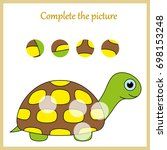 worksheet. complete the picture ... | Shutterstock .eps vector #698153248