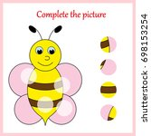 worksheet. complete the picture ... | Shutterstock .eps vector #698153254