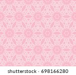 decorative seamless geometric...   Shutterstock .eps vector #698166280