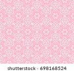 decorative seamless geometric...   Shutterstock .eps vector #698168524