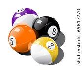 pool balls | Shutterstock .eps vector #69817270