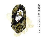 Beautiful Oriental Girl In A...