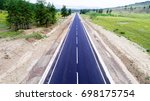 straight road from above | Shutterstock . vector #698175754