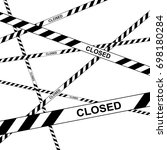 police tape danger closed... | Shutterstock .eps vector #698180284