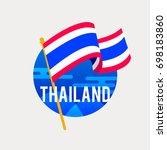 the flag of thailand... | Shutterstock .eps vector #698183860