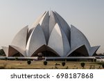 lotus temple  bahai house of... | Shutterstock . vector #698187868