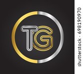tg letter logo in a circle.... | Shutterstock .eps vector #698190970