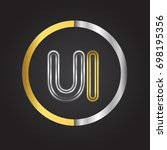ui letter logo in a circle....