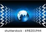 global network connection.... | Shutterstock .eps vector #698201944