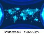 digital business  futuristic... | Shutterstock .eps vector #698202598
