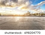 cityscape of los angeles from... | Shutterstock . vector #698204770