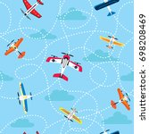 vector seamless pattern with... | Shutterstock .eps vector #698208469