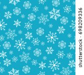 snowflake simple seamless... | Shutterstock .eps vector #698209336
