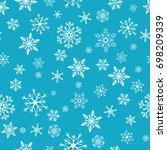 snowflake simple seamless... | Shutterstock .eps vector #698209339