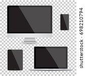 set of realistic computer... | Shutterstock .eps vector #698210794