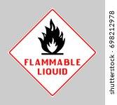 flammable liquid warning sign.... | Shutterstock .eps vector #698212978