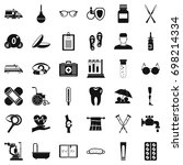 health care icons set. simple... | Shutterstock .eps vector #698214334