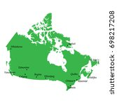 map of canada with main cities | Shutterstock .eps vector #698217208